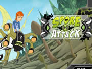Ben 10 attaquent de Spores